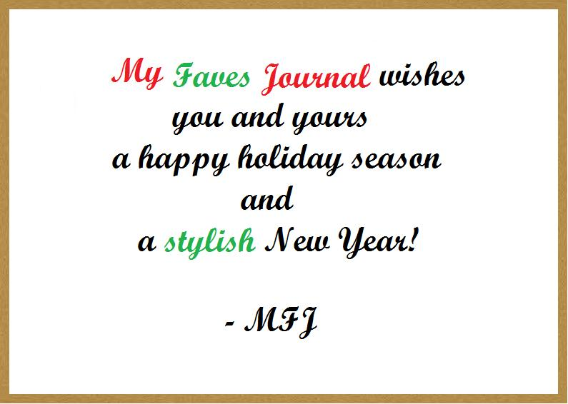 My Faves Journal Happy Holidays