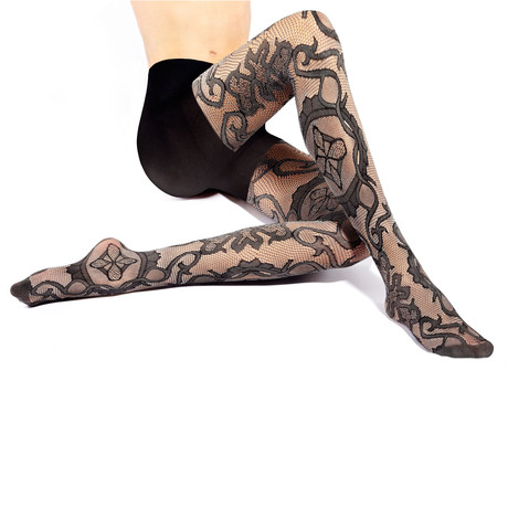 Medallion Openwork Tights