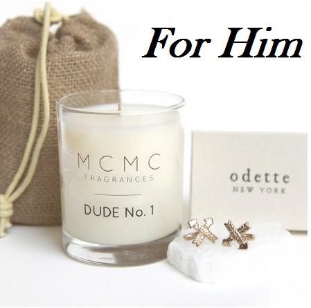 ODETTE ARROW CUFF LINKS + MCMC DUDE NO.1 CANDLE GIFT SET For Him