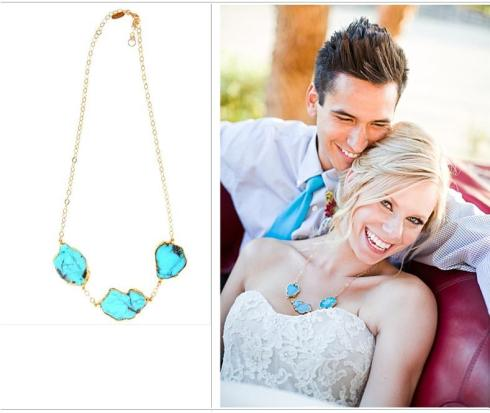 My Faves Journal Turquoise Statement Necklace by Heather Gardner