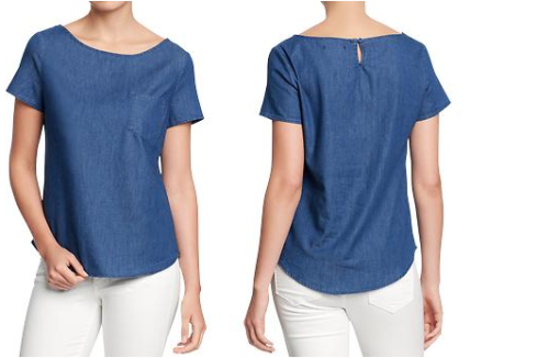 My Faves Journal Women's Chambray Tops