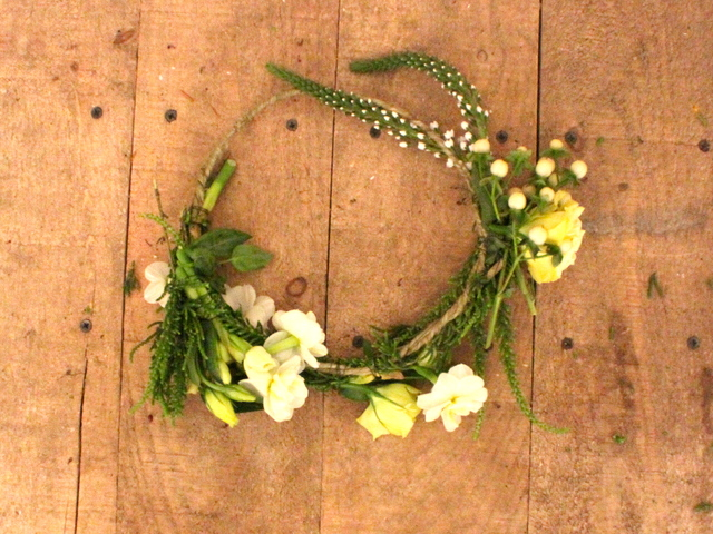 Real Floral Head Wreaths
