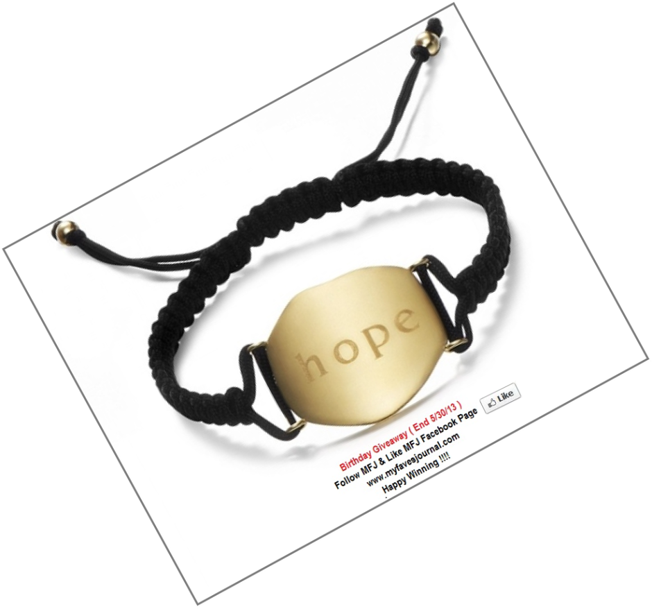 My Faves Journal-MFJ-Daniel Swaebe-Love Bracelet